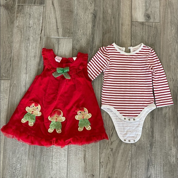 Gingerbread overall dress